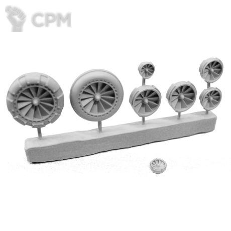 FANS - SPRUE OF 8 - VARIOUS 1