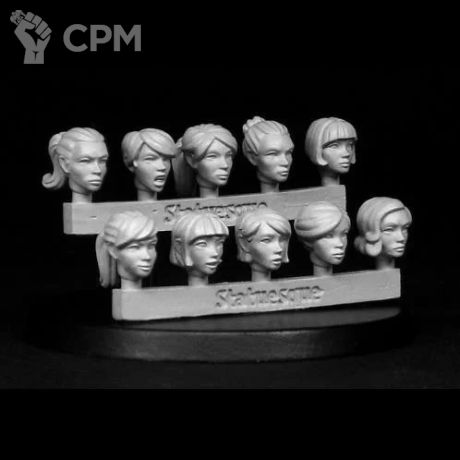 HEROIC SCALE FEMALE HEADS 2 1