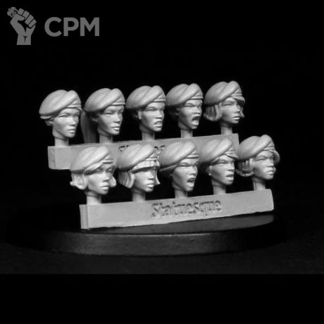 HEROIC SCALE FEMALE HEADS - BERETS 1