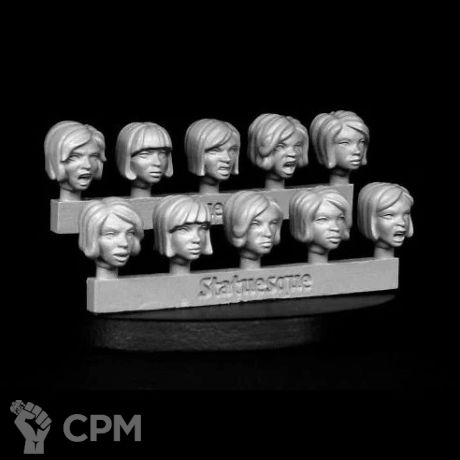 HEROIC SCALE FEMALE HEADS - ANGRY BOBS 1