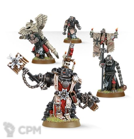 BLACK TEMPLARS CHAPLAIN GRIMALDUS & RETINUE 1